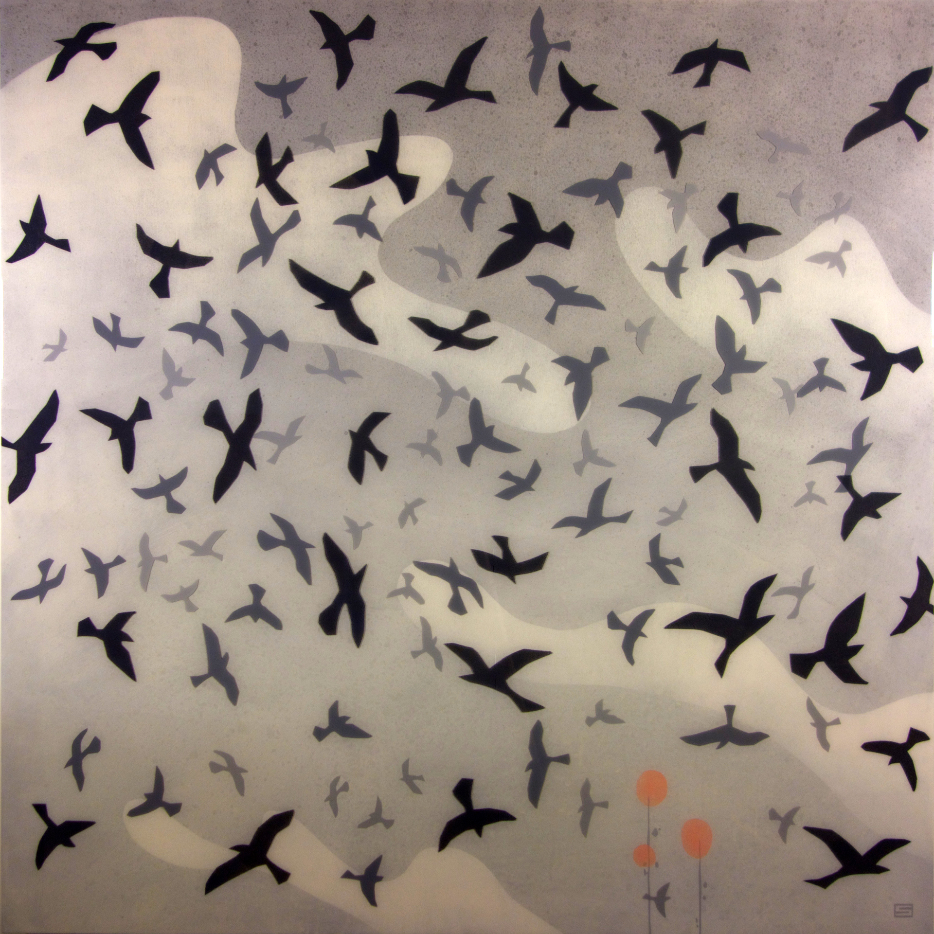 FLIGHT PATTERN - 48X48 - MM ON PANEL - 2017