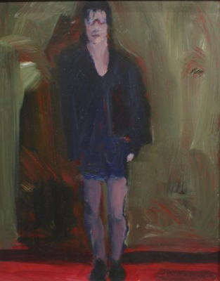 STANDING FIGURE-ACRYLIC ON PANEL-10X8-1990