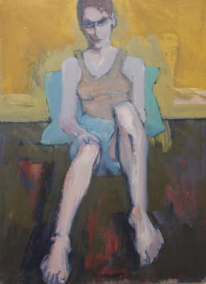 MELISSA #7-ACRYLIC ON CANVAS-25X40-1991