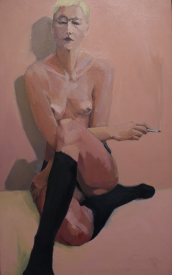 ANGELA #5 - ACRYLIC ON CANVAS - 40x25 - 1992