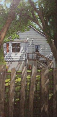 THE OLD FENCE - 48X24 - OIL ON CANVAS - 2017