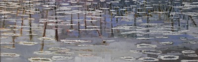 RIVER ICE - 12X36 - OIL ON CANVAS - 2012
