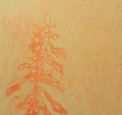 RED NEGATIVE - 12X12 - OIL ON PANEL - 2008