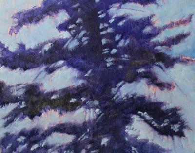 TREE AT NIGHT II - 16X20 - OIL ON CANVAS - 2017
