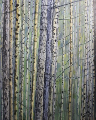 WEST COAST ALDERS - 48X36 - OIL ON CANVAS - 2017