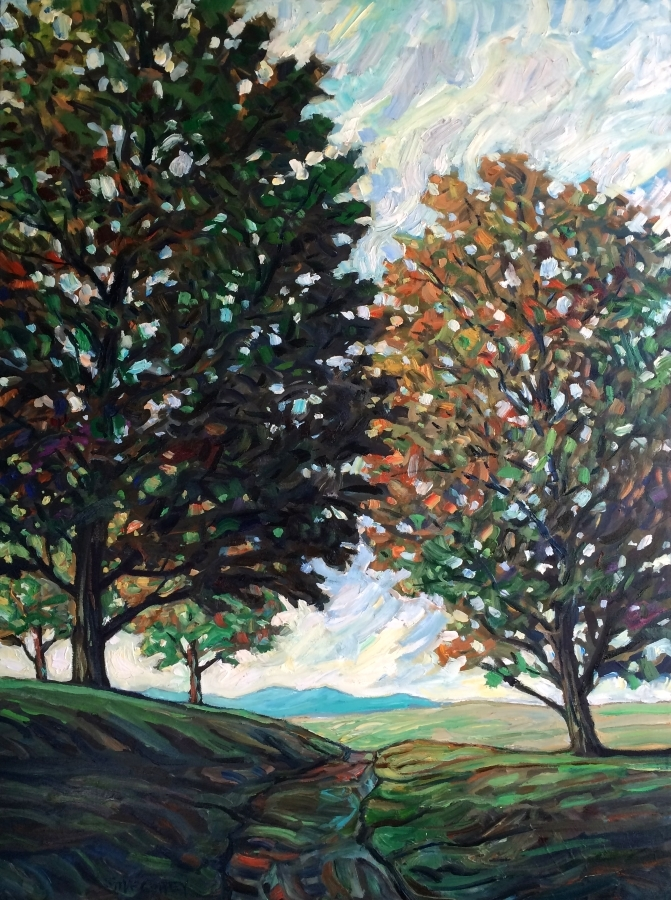 TREE TRAIL - 30x40 - OIL ON CANVAS - 2018