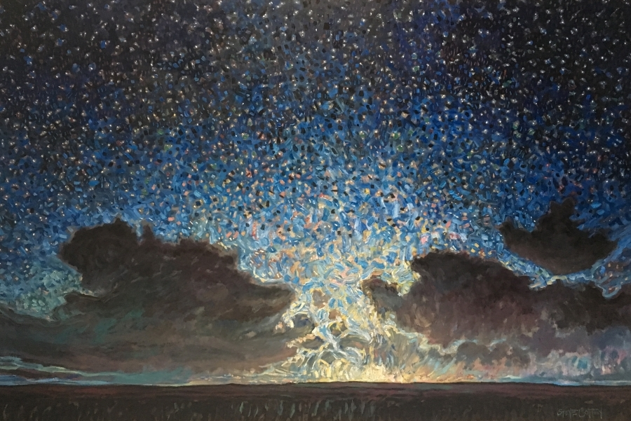 THE SKY DANCE - 48X72 - OIL ON CANVAS - 2018