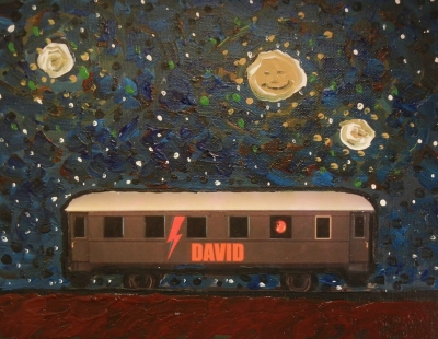 DAVID - 8x10 - OIL, ACRYLIC, INK COLLAGE ON CANVAS - 2018