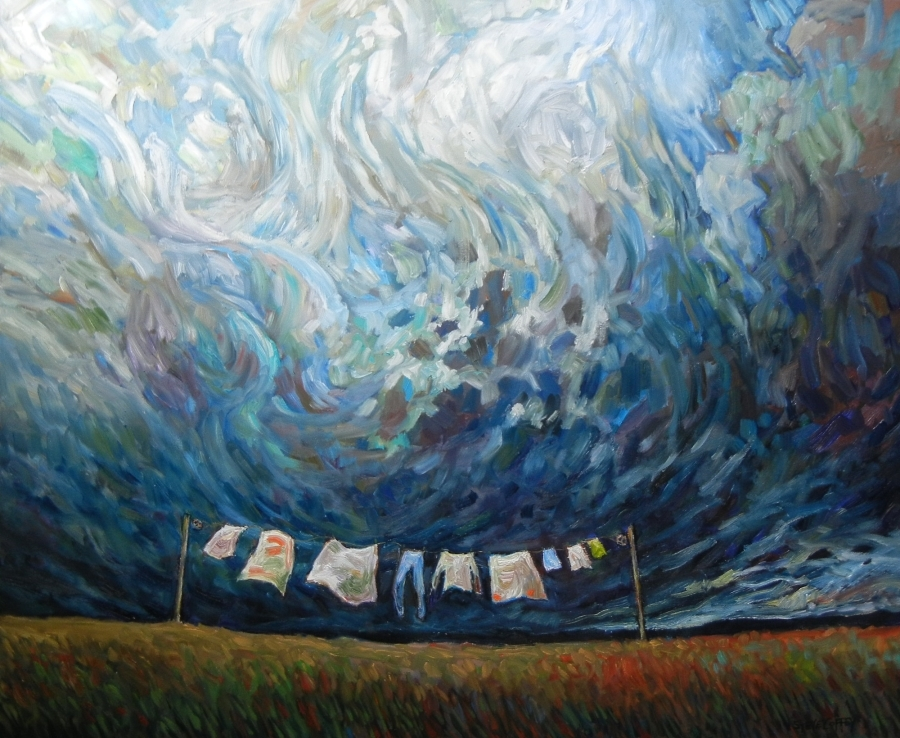 LAUNDRY SWIRL - 40x48 - OIL ON CANVAS - 2015