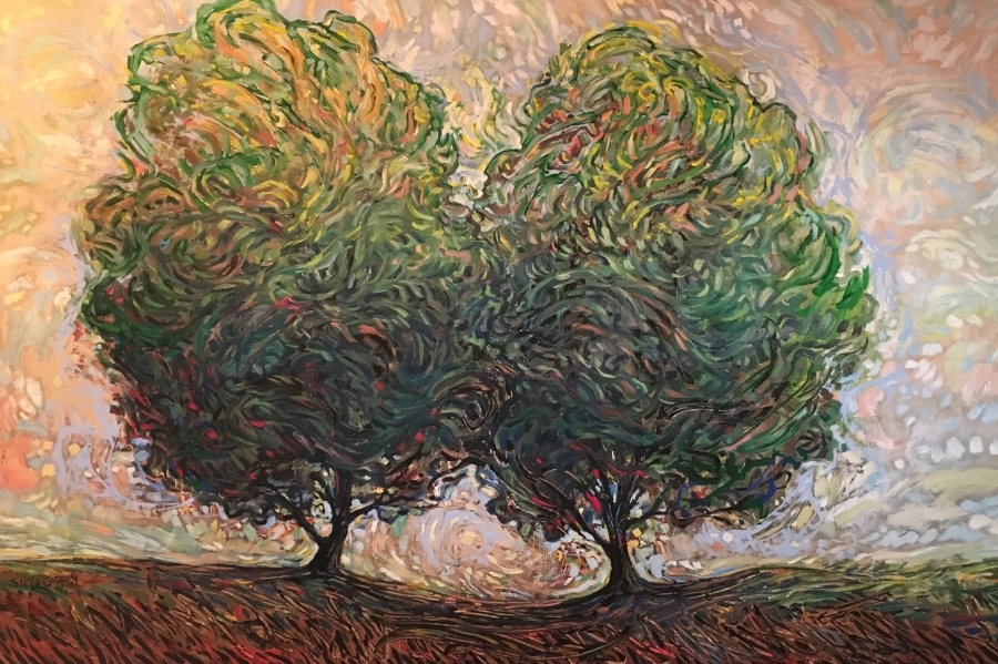 WIND OVER TWO TREES - 40x60 - OIL ON CANVAS - 2018