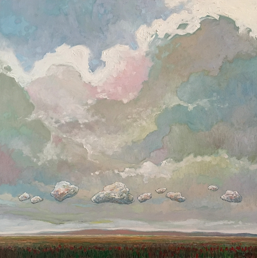 SUMMER CLOUD PARADE - 36x36 - OIL ON CANVAS - 2018