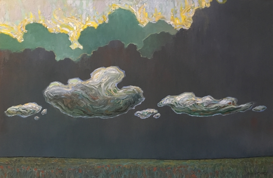 LATE CLOUD PARADE - 24x36 - OIL ON CANVAS - 2018