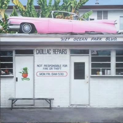 CADILLAC REPAIR - 48X48 - OIL ON PANEL - 2018