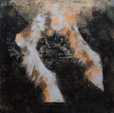 PICTURES FROM ROME - THE BAPTISM OF PAN - 30X30 - ENCAUSTIC ON CANVAS - 2016-2018