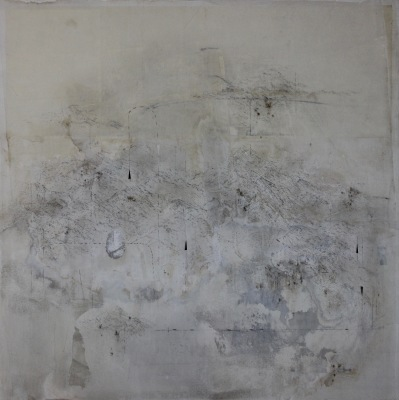 UNCERTAIN END - 40 X 40 - MIXED MEDIA ON PANEL - 2018