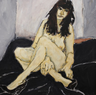 MODEL IN BLACK SHOES - 12X12 - OIL ON PANEL - 2015