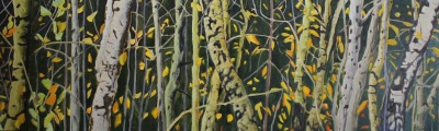 EMERALD ASPENS - 24X78 - OIL ON CANVAS - 2017