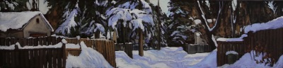 SNOW DAY - 12X48 - OIL ON CANVAS - 2018