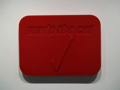 "MADE THE CUT - 26.75"" X 17"" X 2.25"" - POLYURETHANE RUBBER - 2002"