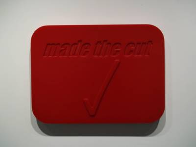 "MADE THE CUT - 26.75"" X 17"" X 2.25"" - POLYURETHANE RUBBER - 2002"
