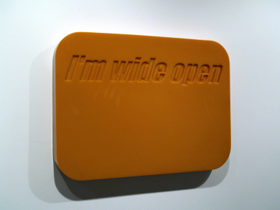 "I'M WIDE OPEN - 26.75"" X 17"" X 2.25"" - POLYURETHANE RUBBER - 2002"