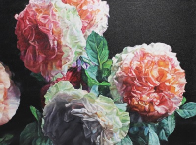 GARDEN ROSES II - 36X48 - OIL ON CANVAS - 2018