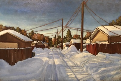 SNOW, EDMONTON WINTER - 24X36 - OIL ON CANVAS - 2019