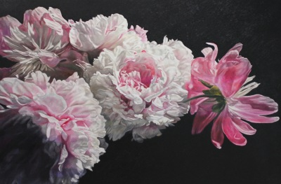 GARDEN PEONIES - 40X60 - OIL ON CANVAS - 2019