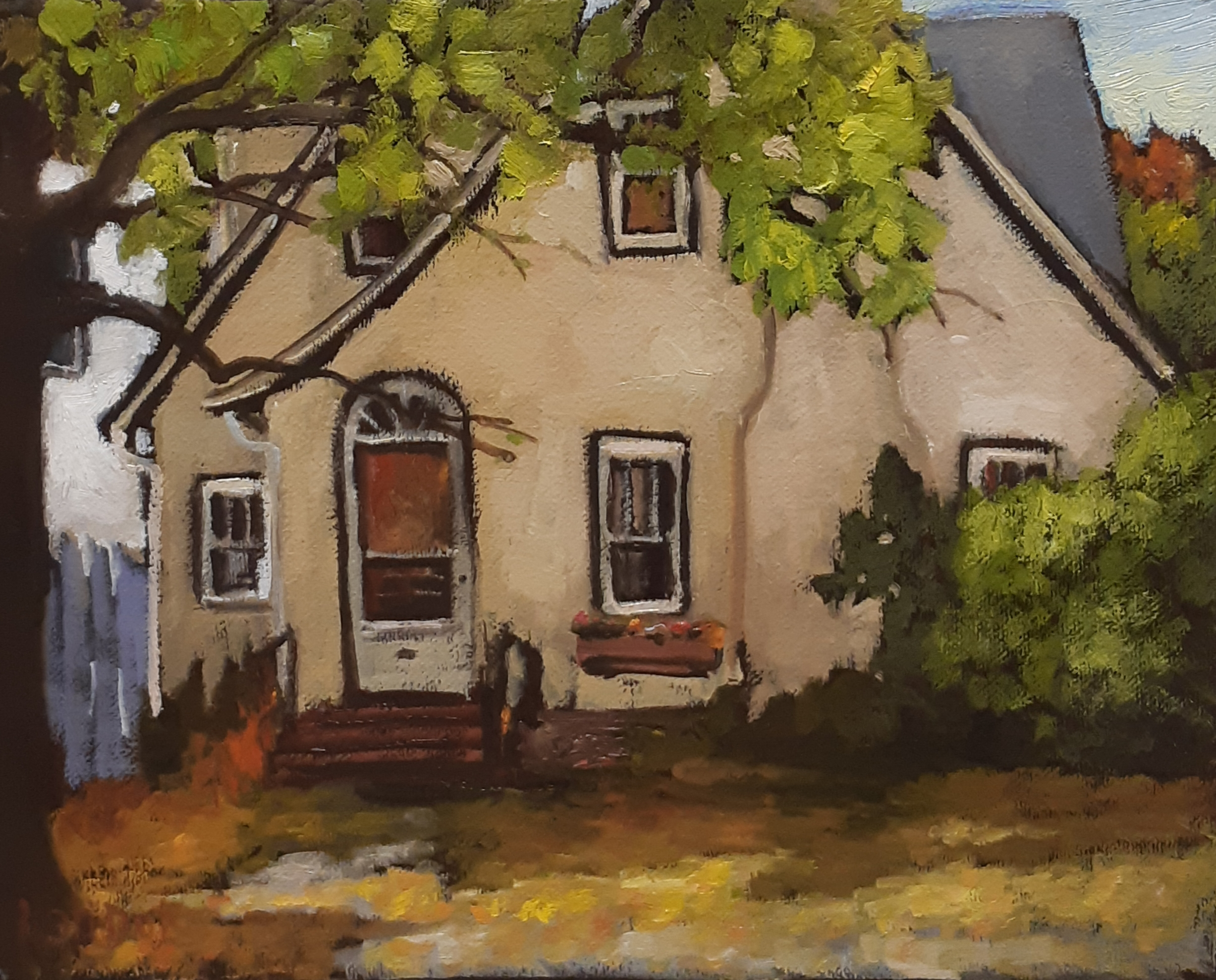 LITTLE YELLOW HOUSE - 8X10 - OIL ON CANVAS - 2019