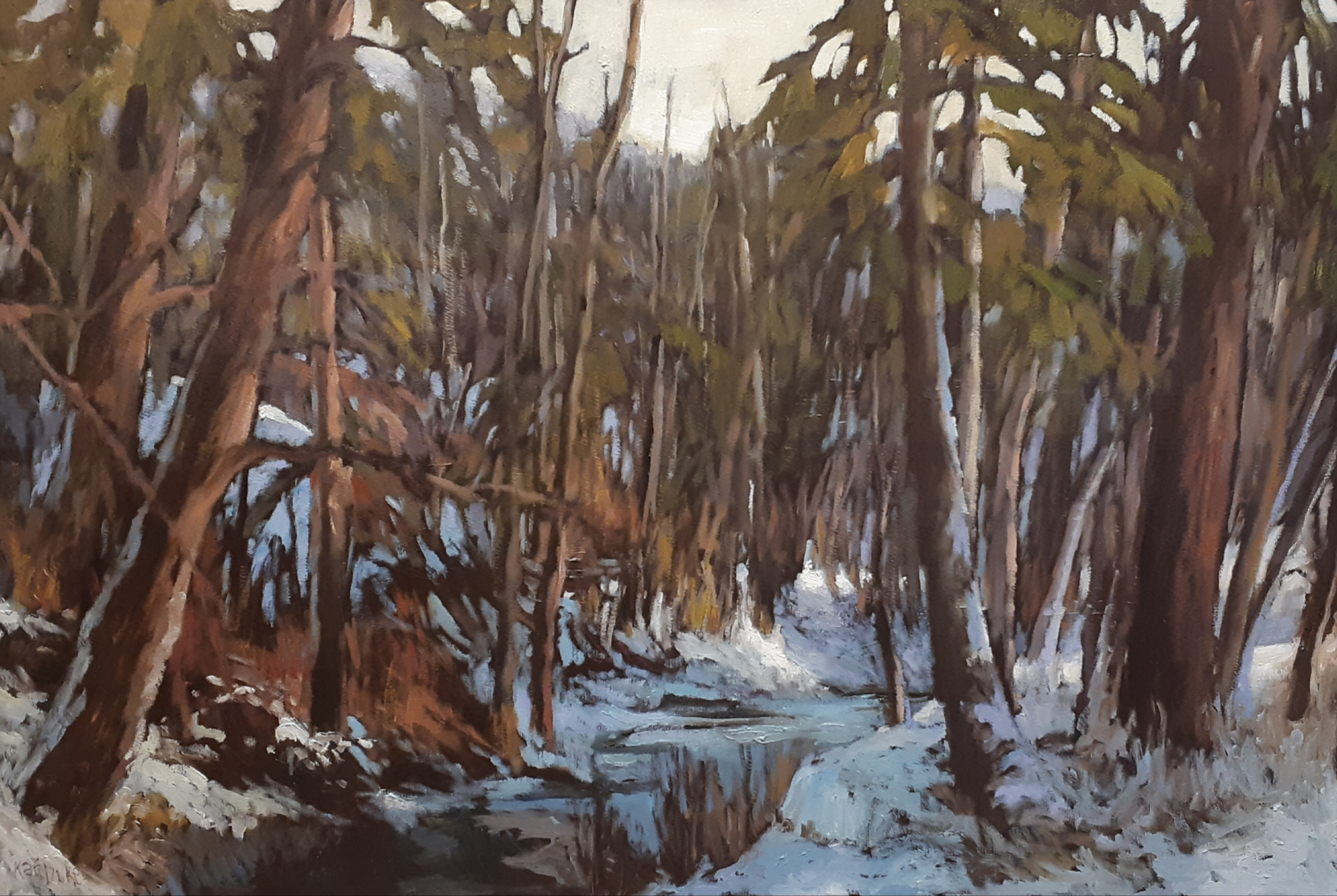 MILL CREEK RAVINE - 24X36 - OIL ON CANVAS - 2019