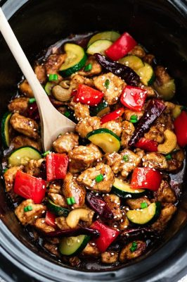 Skinny Slow Cooker Kung Pao Chicken Recipe