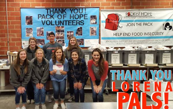 Lorena PALS Raise Funds for the Pack