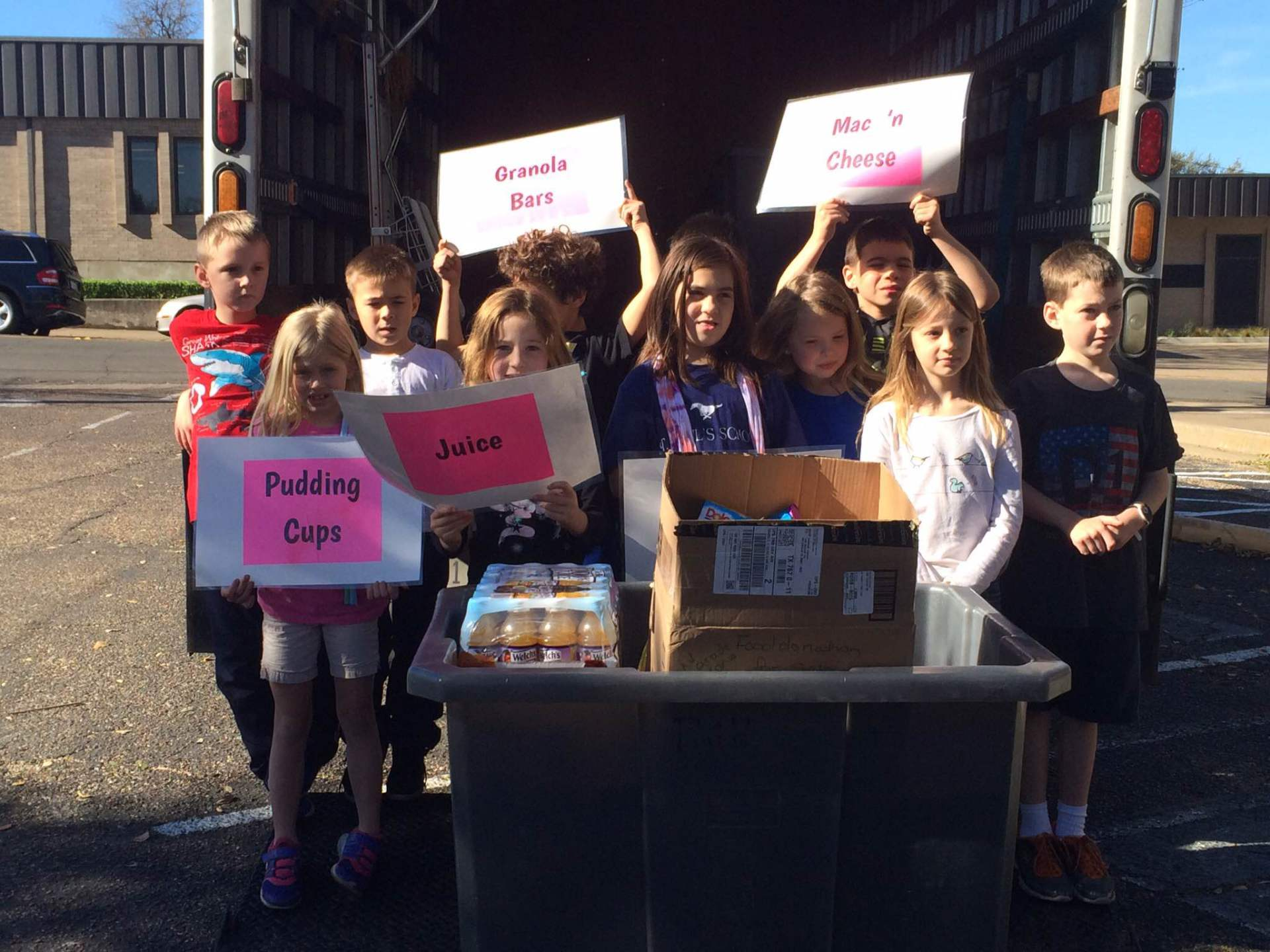 St. Paul's 2nd Grade Class Organizes Food Drive