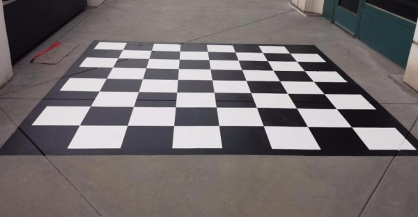 Graphic Floor Painting