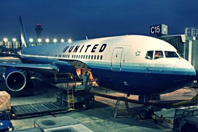 United Airlines Flight at Gate