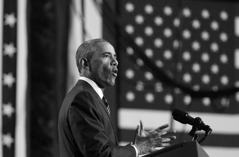 Pres. Obama Speaking. CTZNS BLKWHITE