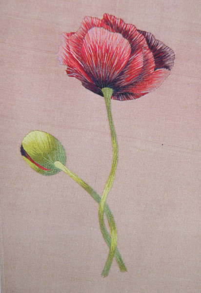 'Poppy' in silk shading