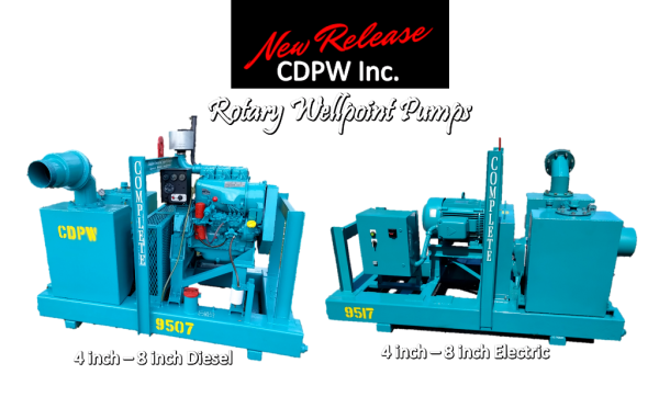 CDPW New Product Line Rotary Wellpoint Pump