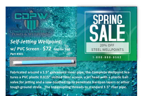 Complete Dewatering - SPRING SALE ENDING, JUNE 22ND!
