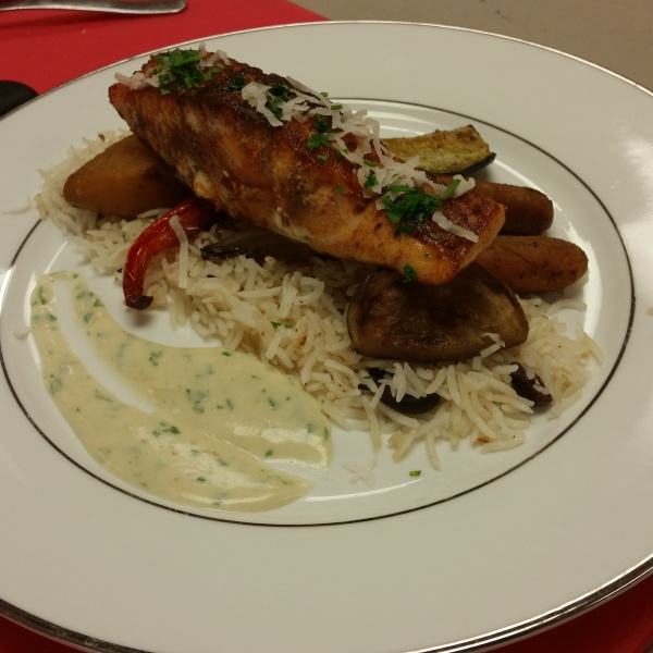 Moroccan-Spiced Salmon with Coconut Basmati
