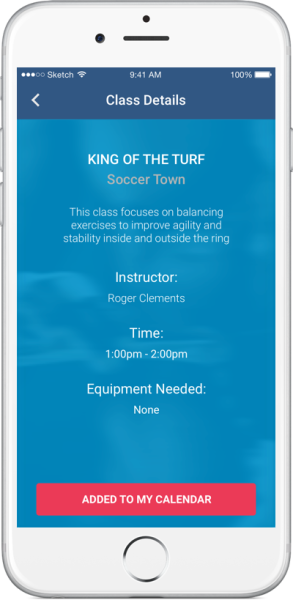 Freeplay iPhone App - Class Profile