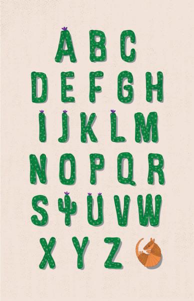 Cactus Alphabet Illustration