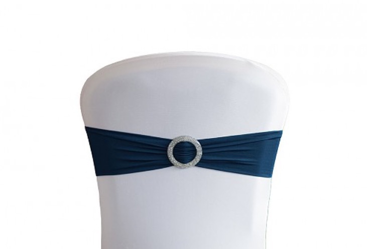 Navy sash with buckle
