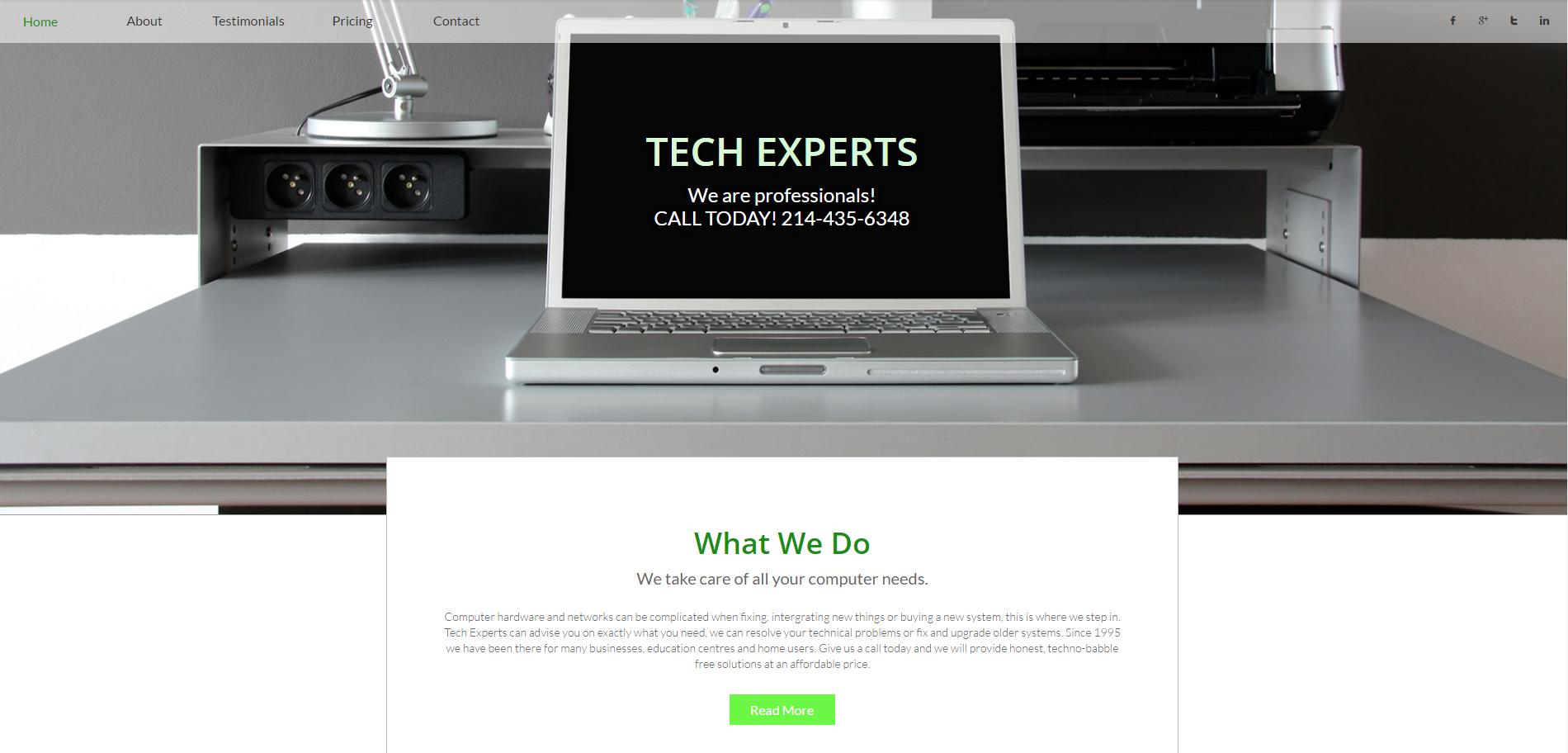 Tech-Experts-Template