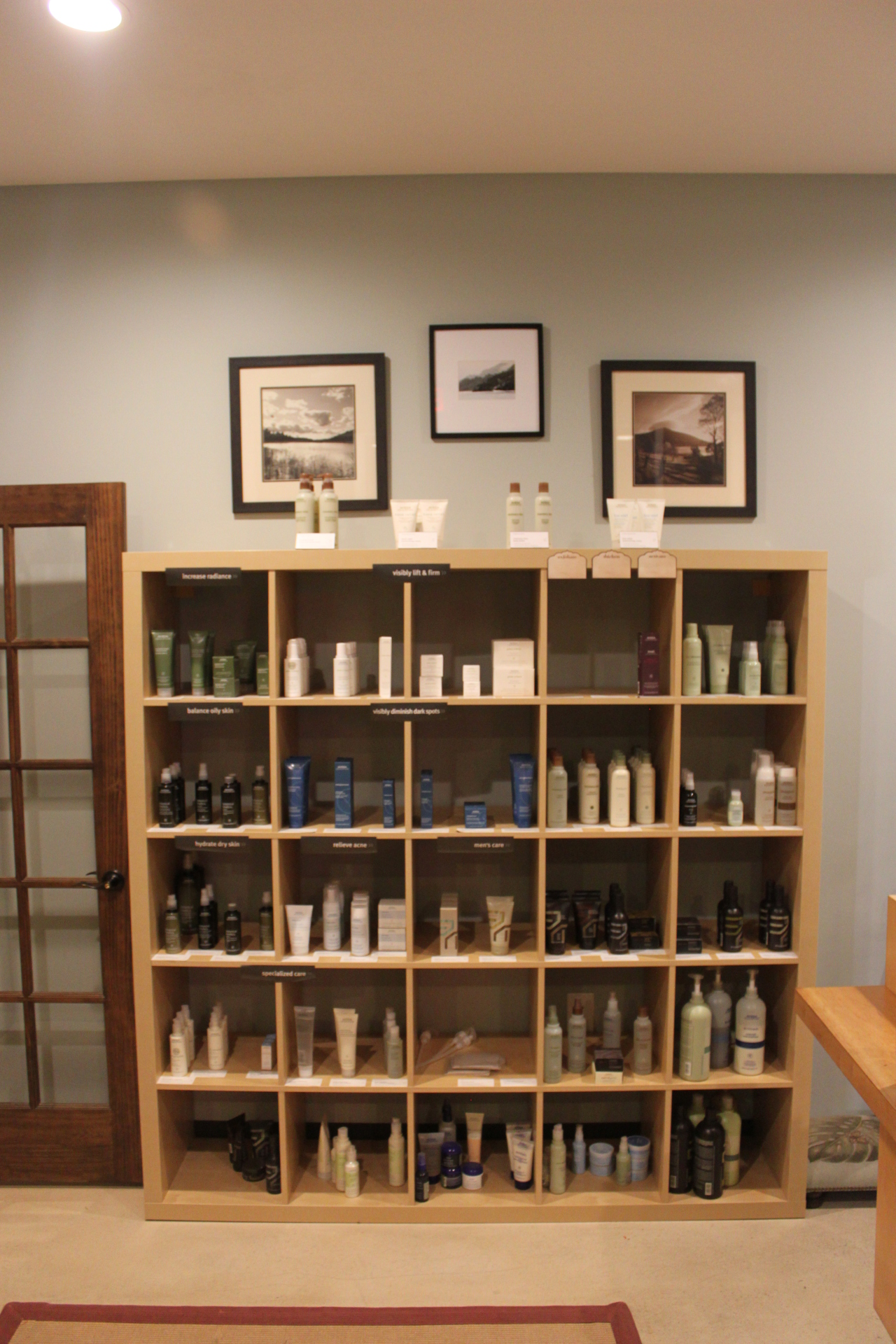 Aveda retail area