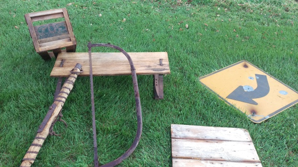 Rustic items we found while cleaning!