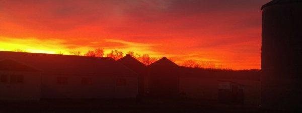 A breathtaking sunrise