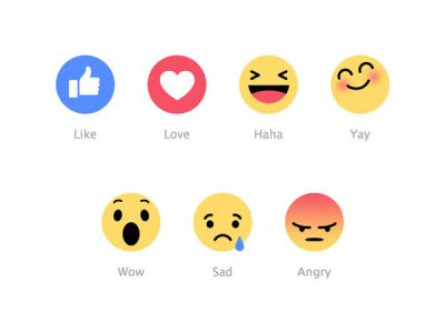 Social Media / Facebook reactions and emoji