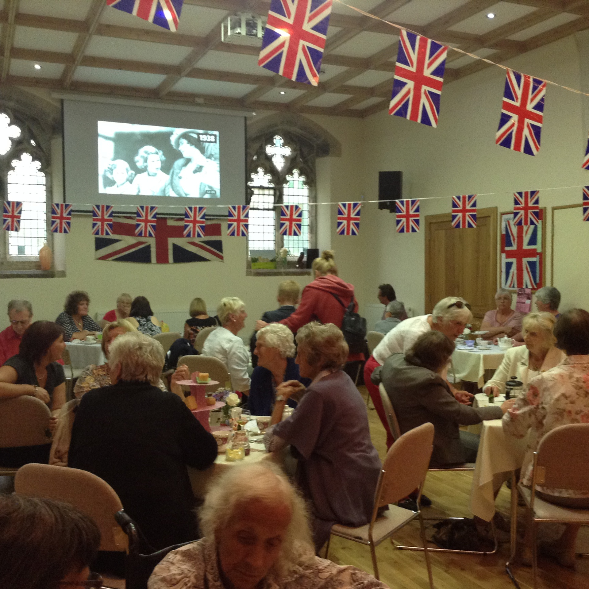 Afternoon Tea in full swing in the hall