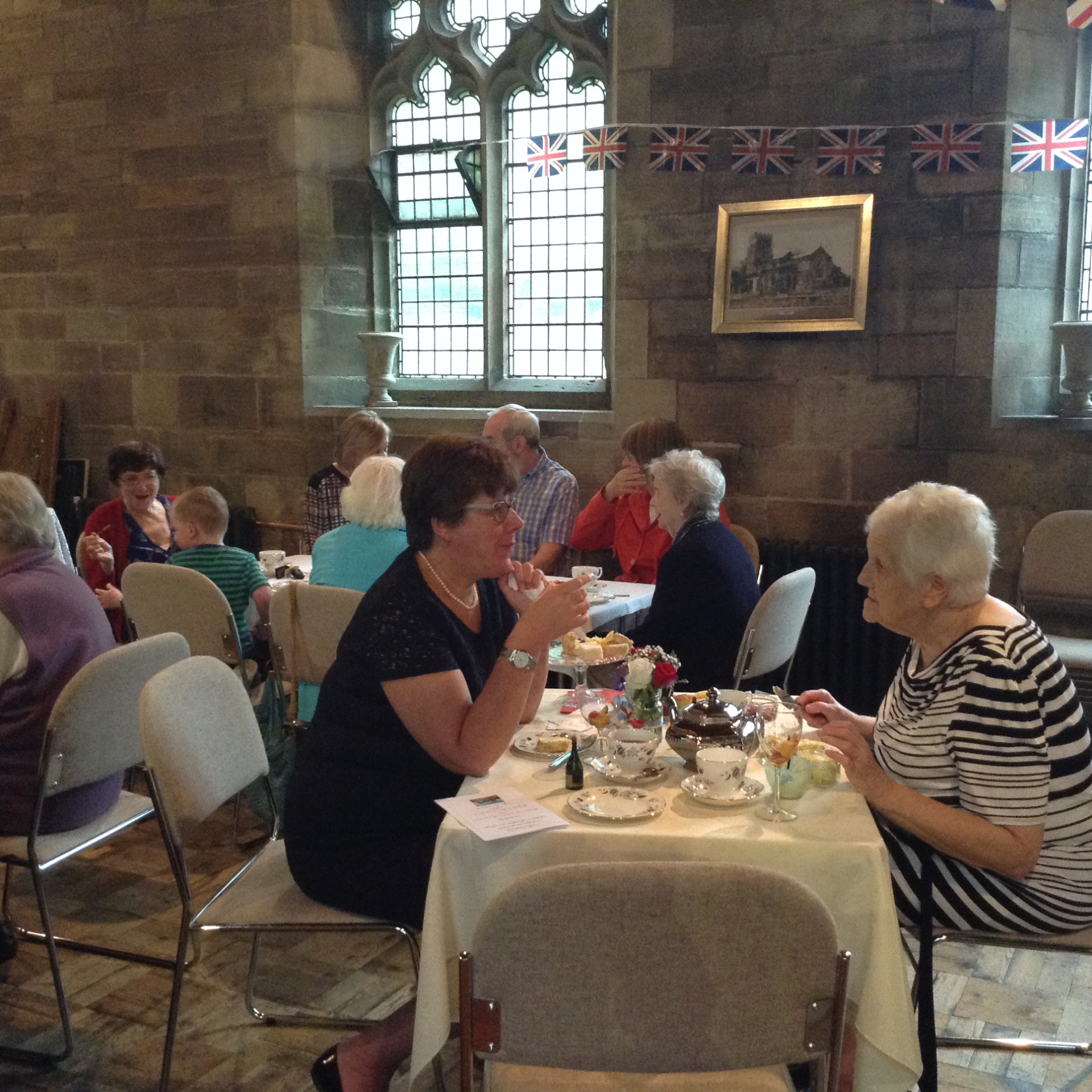 afternoon tea in the North Aisle